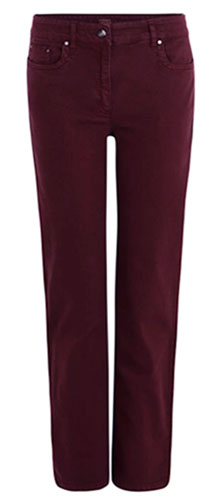 ZERRES Greta bordeaux rood denim